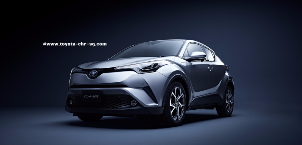 Toyota C-HR Front and Side Profile