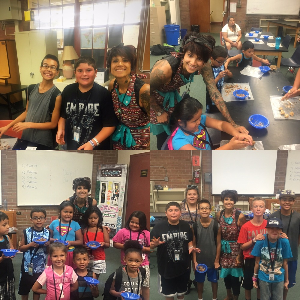 2016 Native youth summer camp at Havermale, the students made their own healthy raw cookies