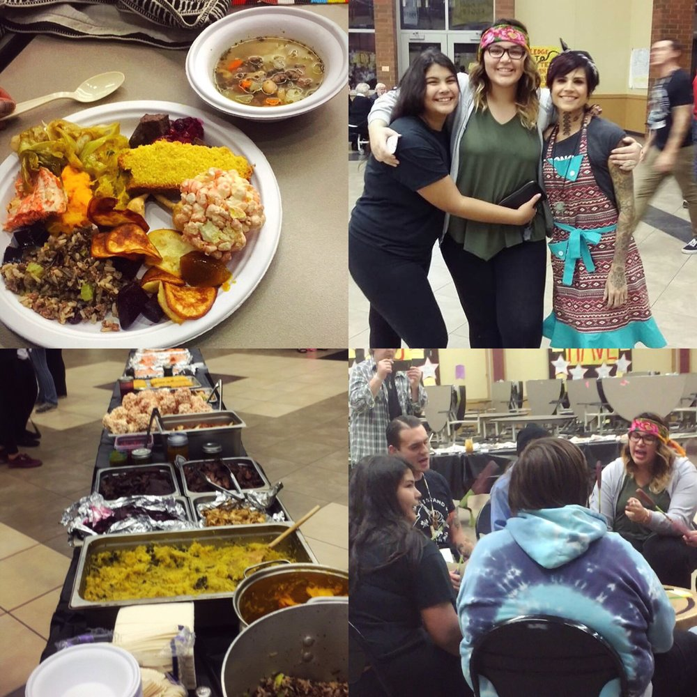 The youth served 70 people of their community a traditional dinner, Im so proud of their efforts.  Nk 'wu Nation drum circle performed as well.
