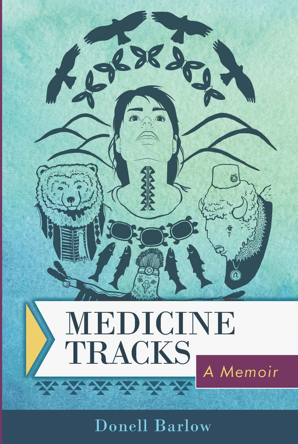 - Medicine Tracks is one woman's journey through loss and change, with the people, animals, and dreams that are her medicine—her sources of guidance and healing—along the way.Donell Barlow's story begins with the unexpected dissolution of her marriage of thirteen years. This is only the beginning of changes to come, and she seizes what can guide her and holds on tight.Raised by her single father, Donell has always shared a special bond with him. Even as his health declines, she continues to be guided by his teachings. Venturing into the tricky world of dating after divorce, Donell seeks and finds love, sex, and connection, but must first relearn the importance of trusting her gut. The journey of following her medicine tracks leads Donell back to her Native American heritage. From mentoring Native youth to supporting the protection of the planet through her activism, Donell forges a new life while holding on to the most important parts of her past.Medicine Tracks is a story of becoming sensitive to the wisdom of the Universe around you, being present in the moment, and having faith to follow your own guides toward a new path.