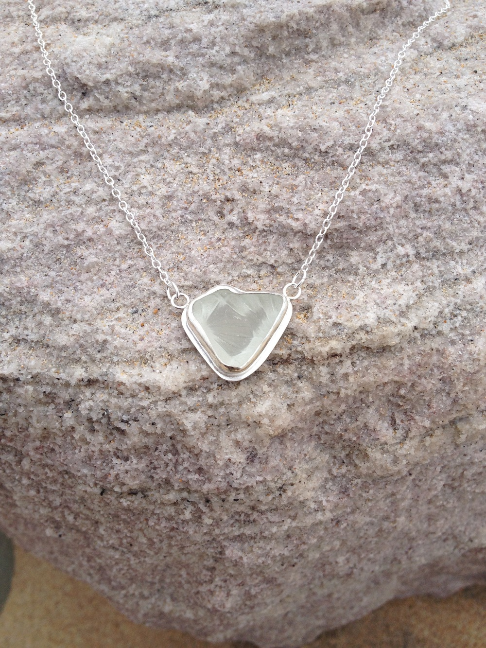 Heart Shaped Sea Crystal Necklace