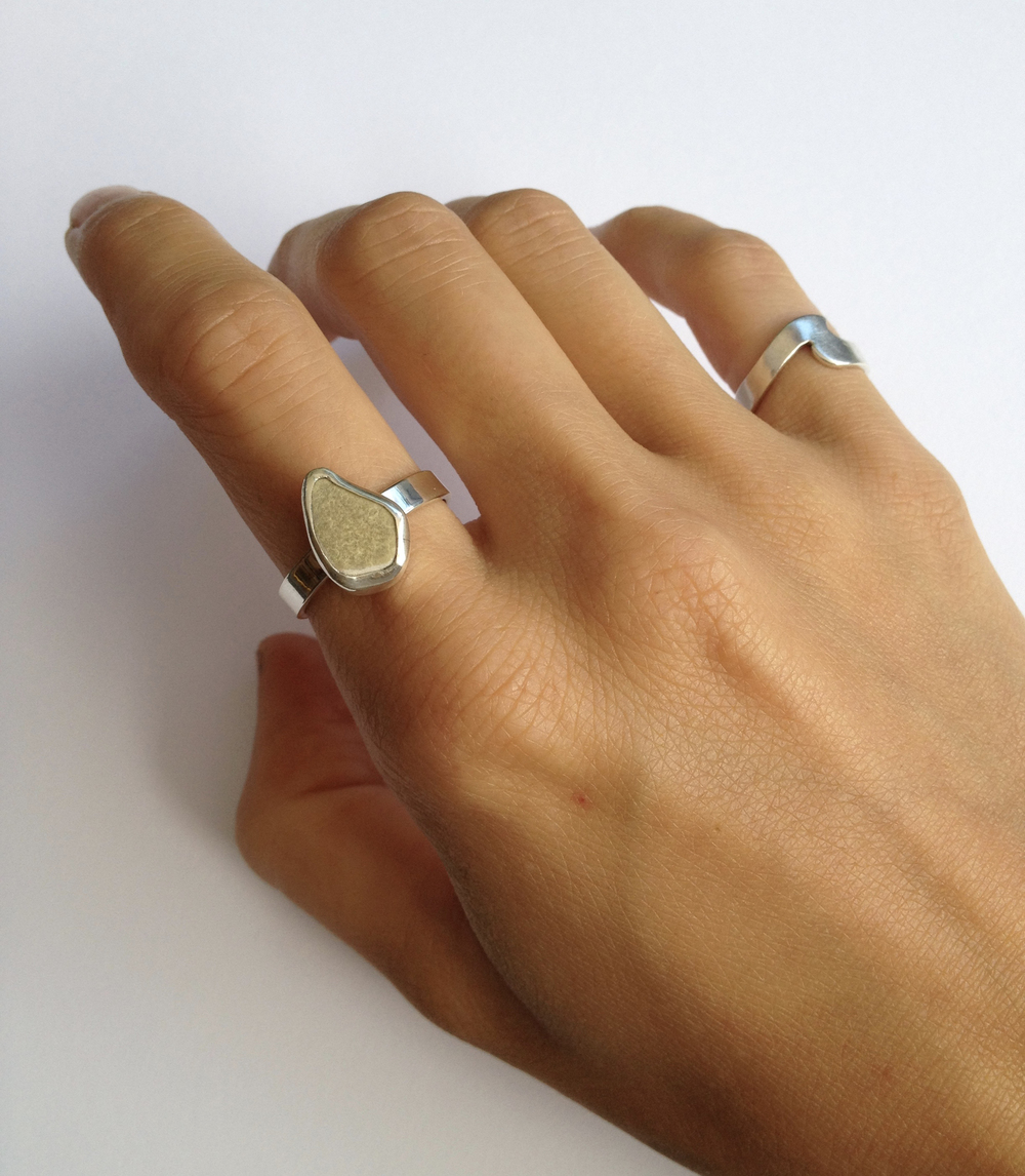 Green Sea Pottery Ring