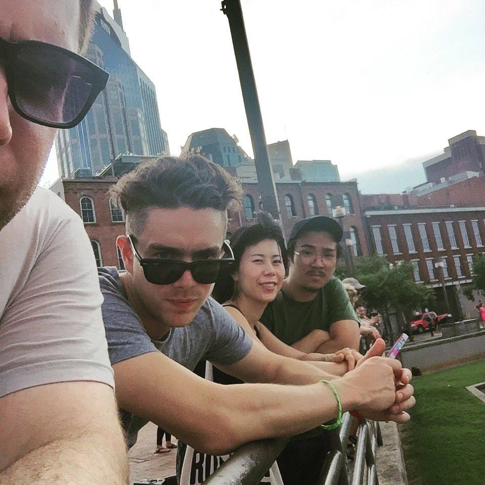 Nashville with the band