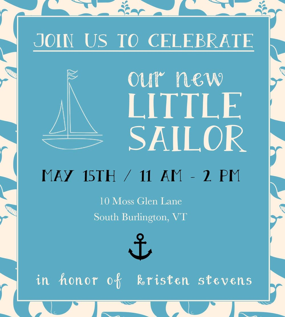 Baby Shower Invitations - Sailor Themed