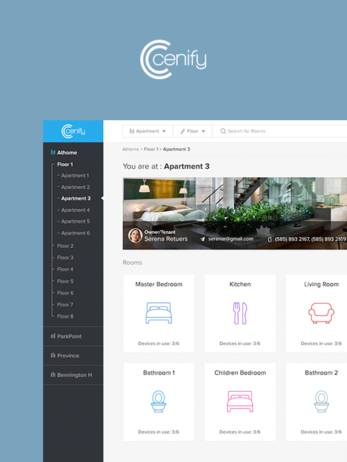 Cenify Web App UX & UI