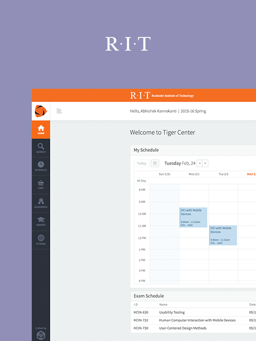 RIT's Tiger Center Web App UX/UI Re-Vamp
