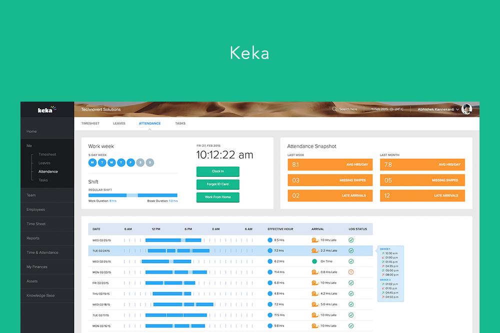 Keka HR Product, UX/UI