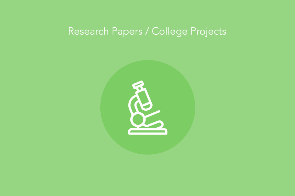 HCI college course projects and research works