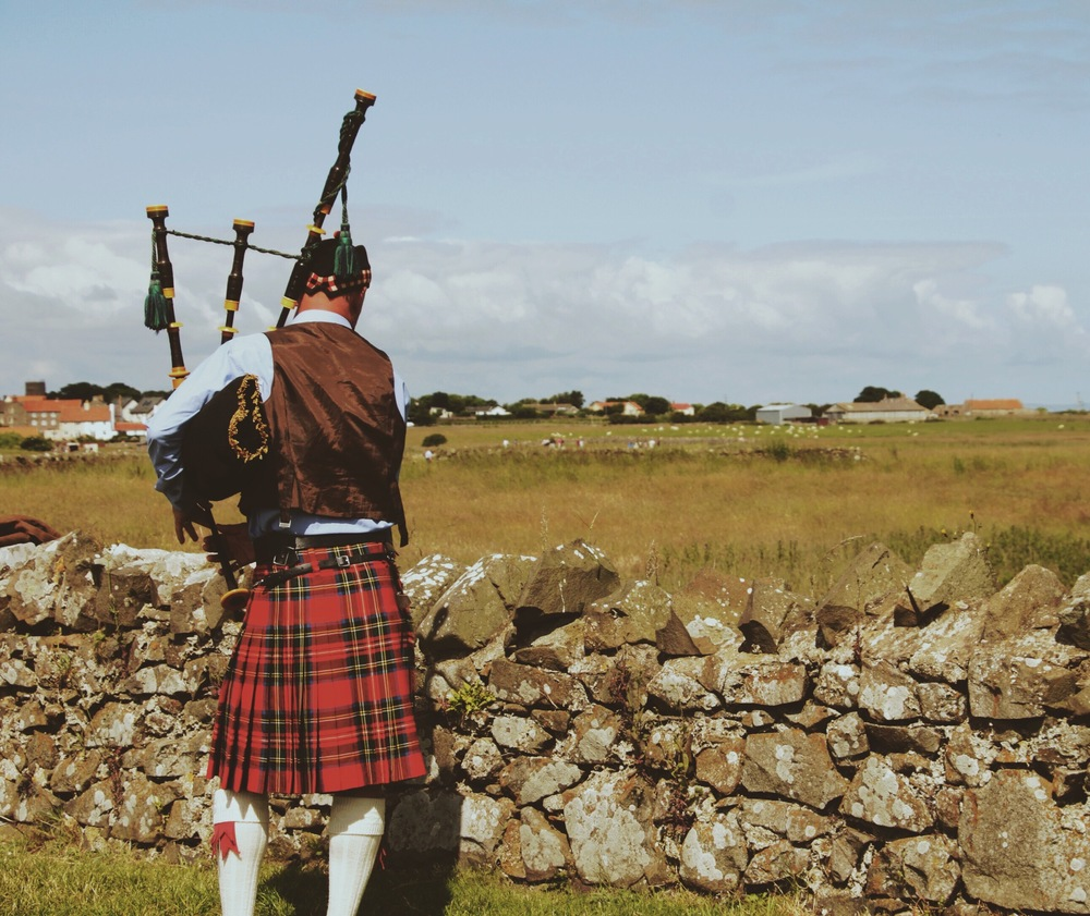 Bagpiping is a serious art form over there.