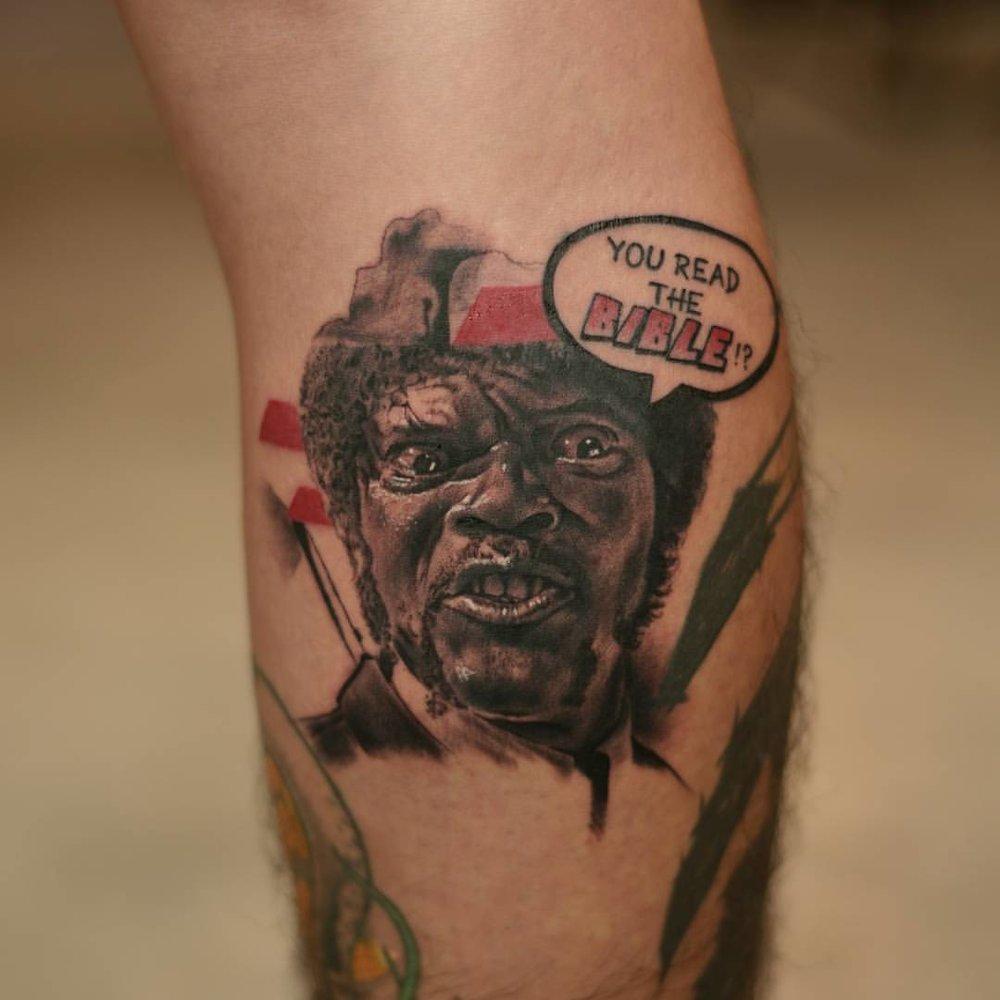 2016-fridays-tattoo-hong-kong-jamie-abstract-graphic-portrait-pulp-fiction-jules winnfield.jpg