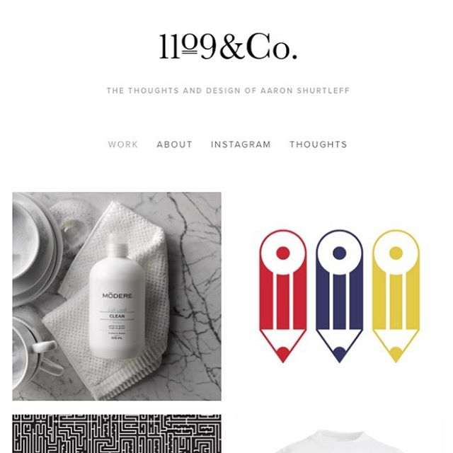 New site to showcase my work both past and present. @1109&Co #design #branding #layout #web #print #graphicdesign