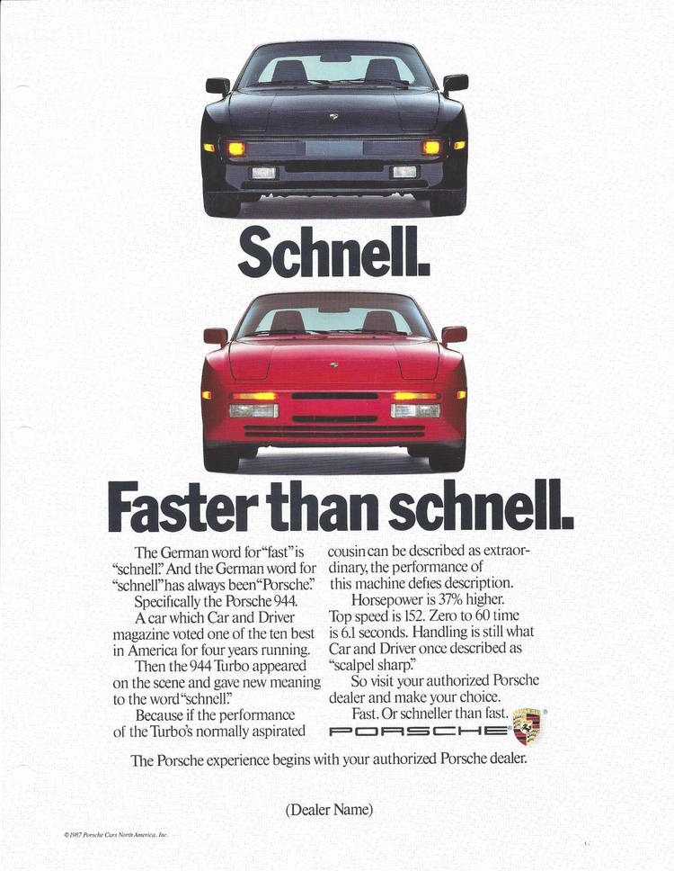 ÜberCool Classic Porsche Ads MENS TOP TENS - Vintage porsche dealer