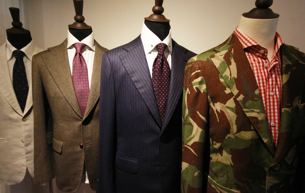 A selection of Kevin Seah bespoke coats.