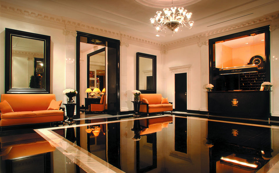 The elegantly novelty-free lobby of Rosewood's iconic Carlyle Hotel, New York.