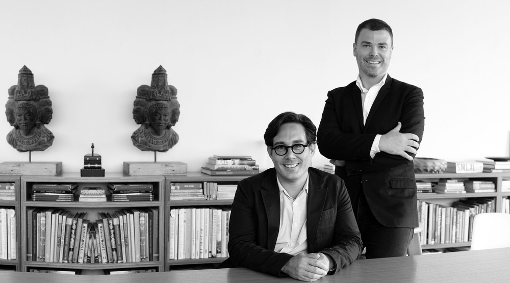 Designers Matthew Shang (L) and Paul Semple (R) of Hassell Studio.