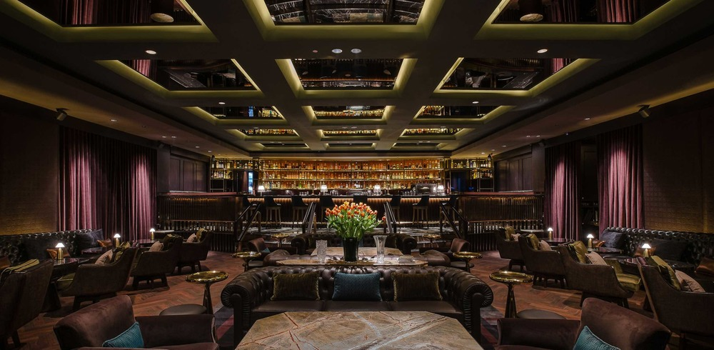Semple and Shang's delightfully dark and moody Manhattan Bar at the Regent Singapore.