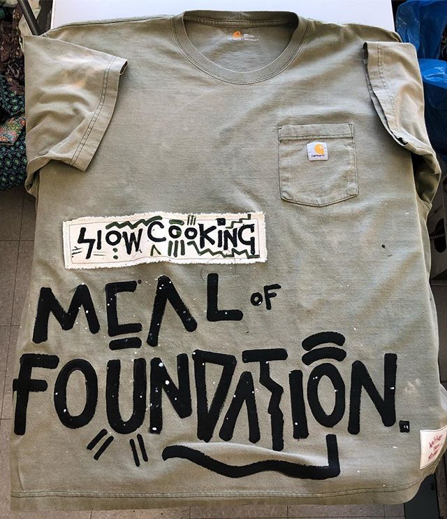 Great things take time to form ✖️slow cooking meal of foundation✖️ by custom one of one color dyed vintage carhartt tee by #writingsfrommichael 🙏🏾🎨🌍