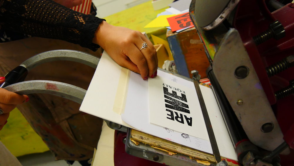 Letterpress workshops from Karen at Red Button Press, Liverpool.