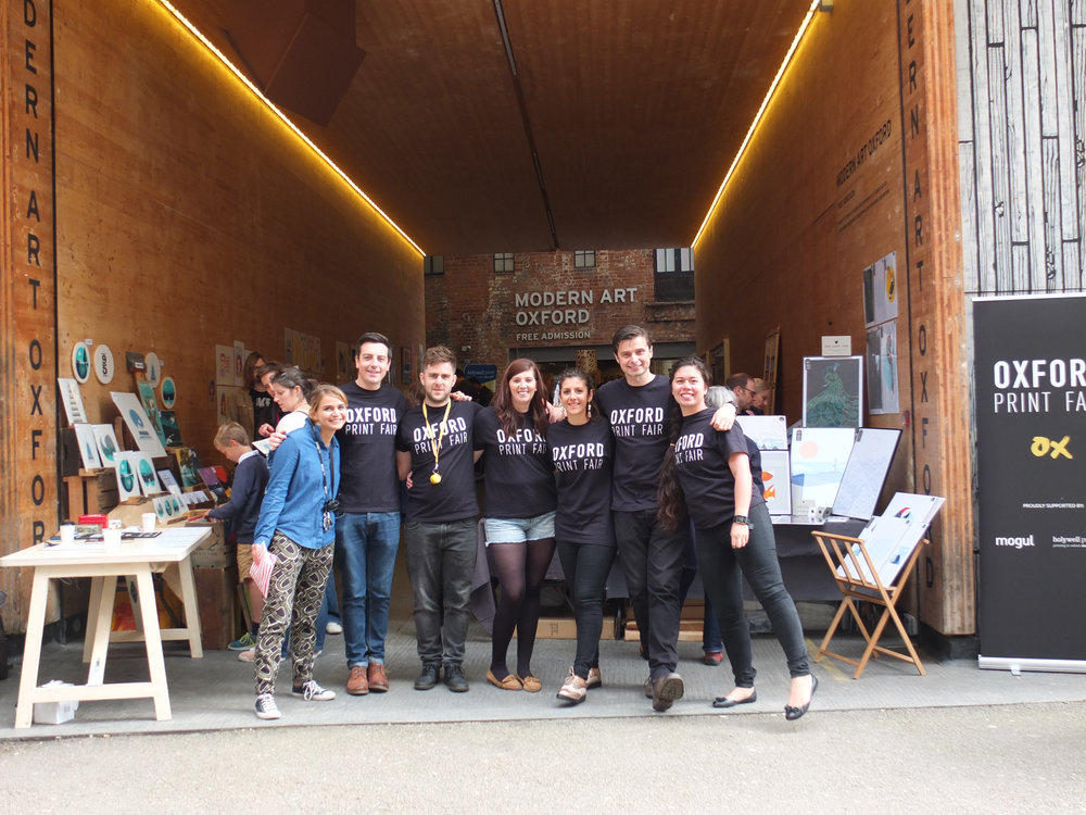 New beginnings.: Our sister event Oxford Print Fair which debuted at Modern Art Oxford in Sept 2017.