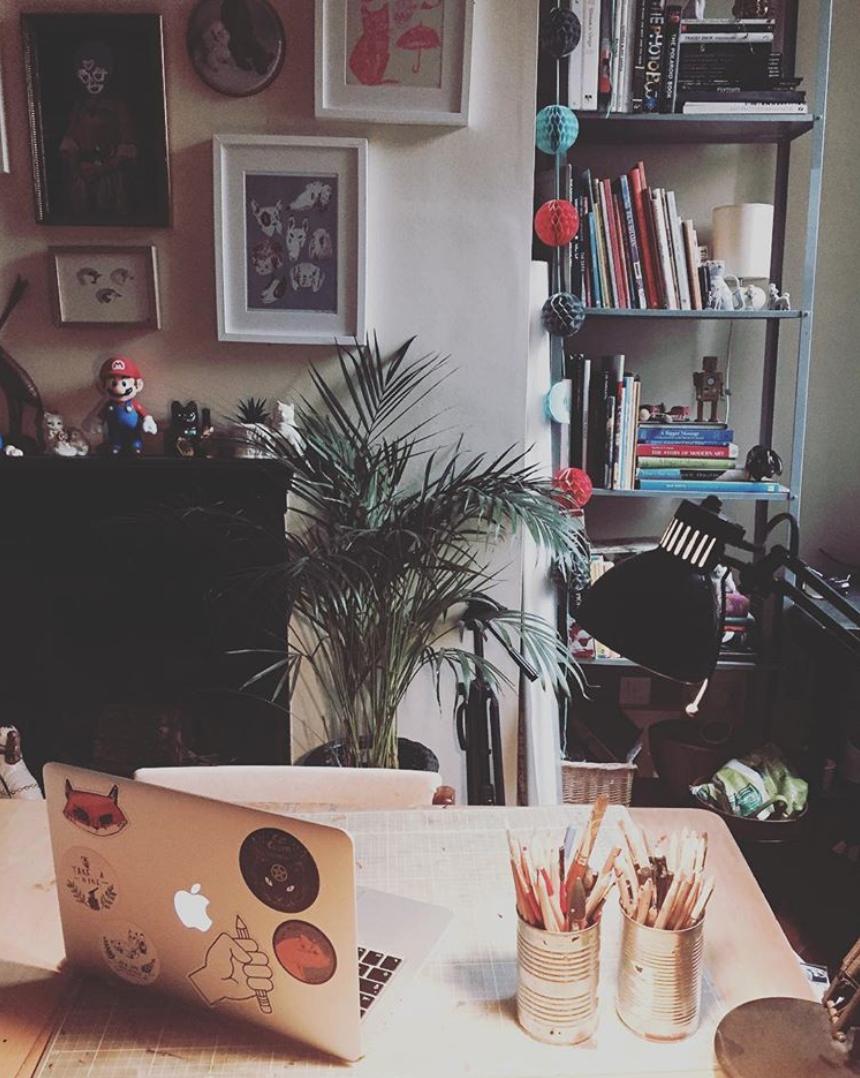 Dick's desk