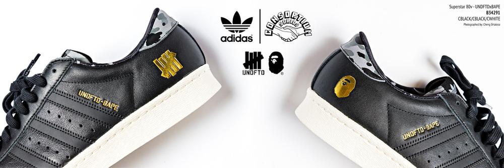 adidas bape x undftd superstar sneakers