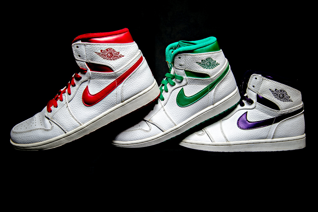 3713b41e5dde ... air jordan 1 metallic 2009 retro sneakers .