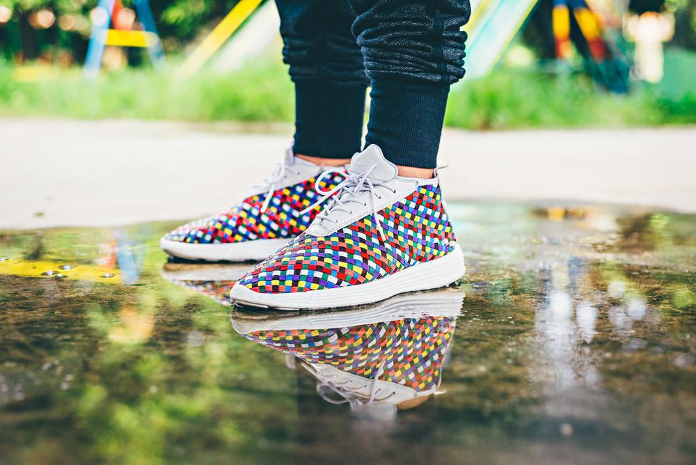 nike lunarlon woven rainbow sneakers