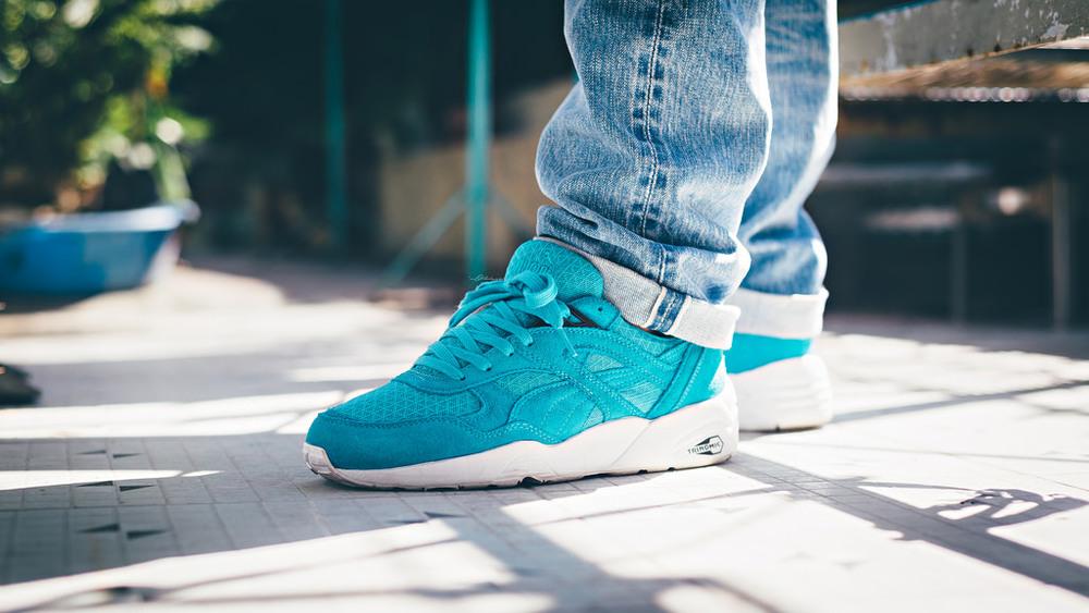puma r698 mesh evolution bluebird sneakers