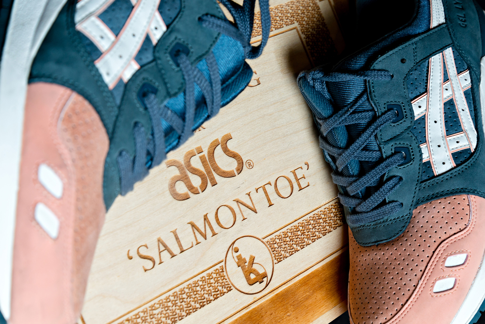 asics gel lyte III ronnie fieg salmon toe sneakers