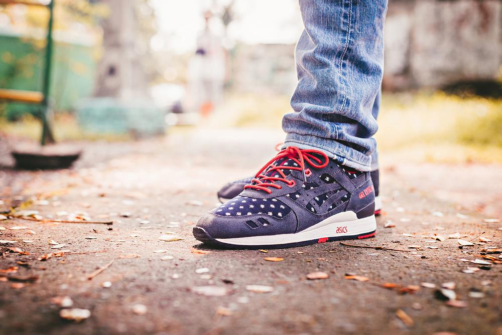 asics x bait nippon blue sneakers