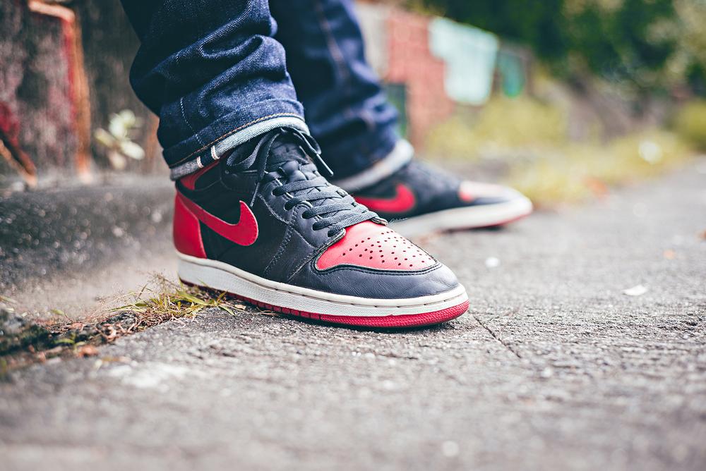 air jordan 1 1994 bred sneakers