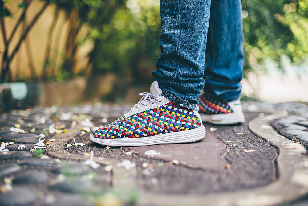 Nike Lunar Woven Chukka Rainbow Sneakers Sophnet