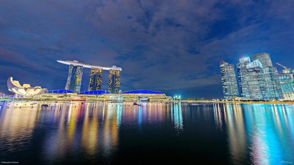 Singapore Merlion Park Marina Bay Sands