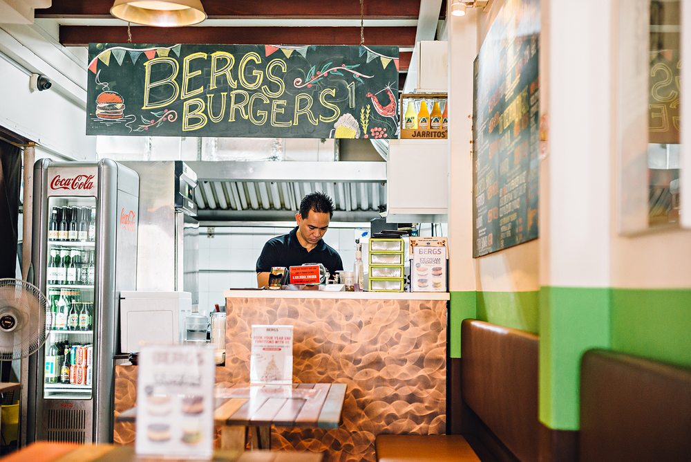 Singapore Haji Lane Vacation Bergs Burgers