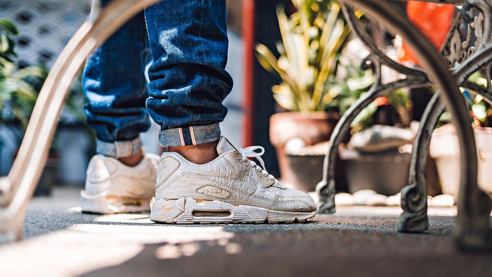 Airmax 90 White Croc Skin 20th Anniversary Sneaker Photography