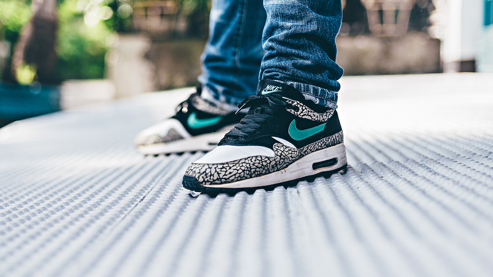 Nike Air Max 1 atmos Elephant Print WDIWT Sneakers Photography
