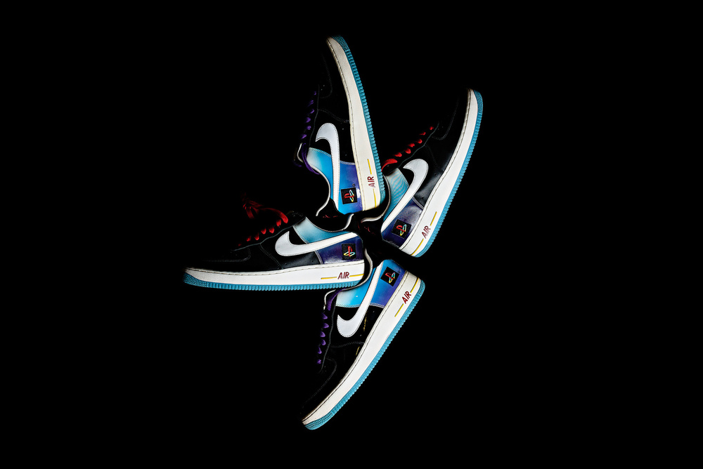 Nike Air Force 1 Playstation Promo Sample Sneakers Photography