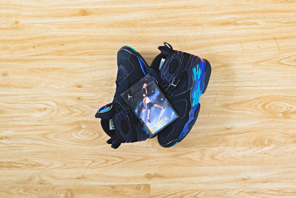 Air Jordan 8 Aqua Sneakers Photography