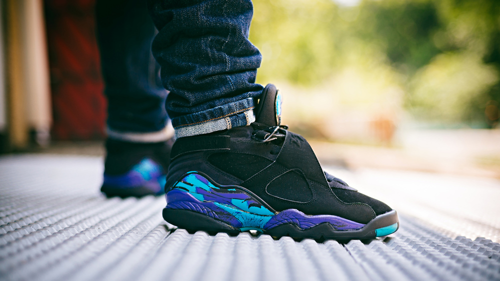 Air Jordan 8 Aqua Sneakers Photography WDIWT