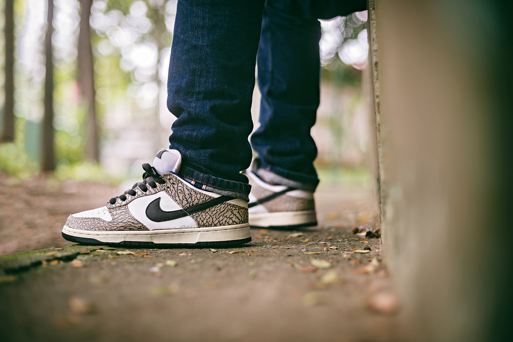 WDIWT Nike Dunk Low SB Supreme White Sneakers Photography