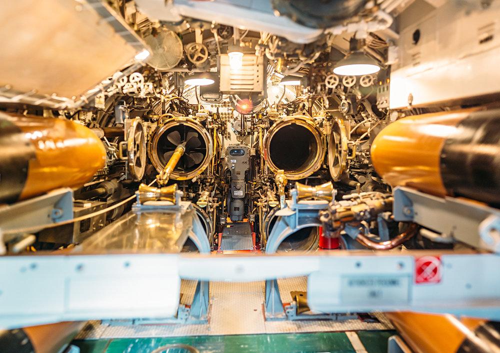 USS Bowfin Torpedo Bay Pearl Harbor Hawaii Submarine Museum Park Travel Photography