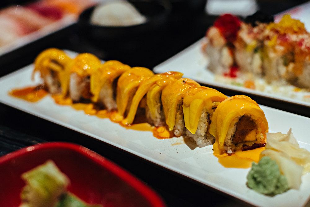 Hot Mango Roll Arigato Sushi Japanese Restaurant Salinas Vacation 2016