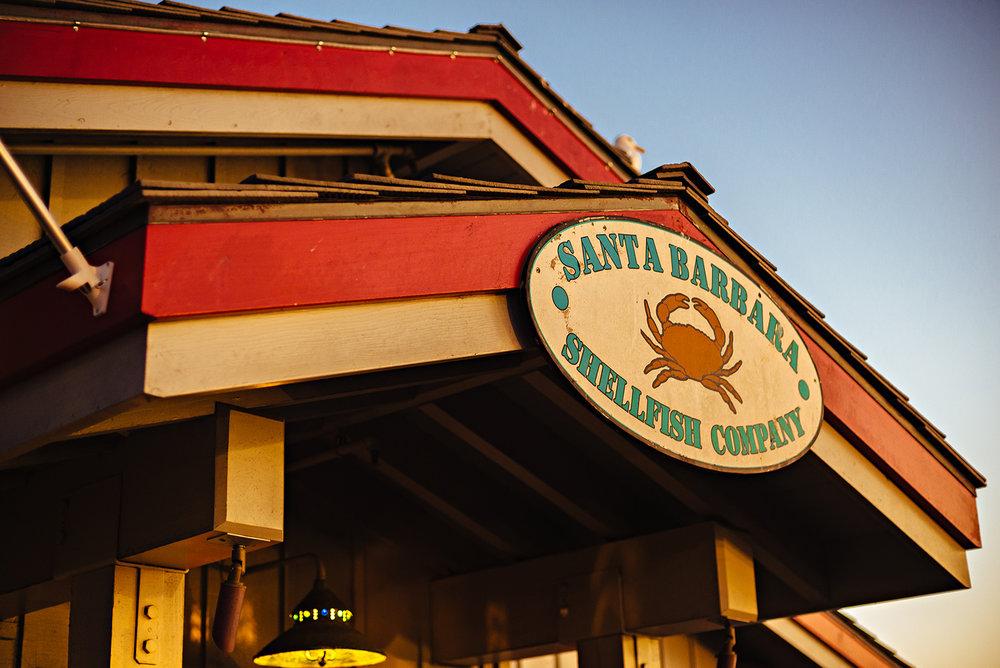 Santa Barbara Stearns Wharf Santa Barbara Shellfish Company California Vacation Photography 2016