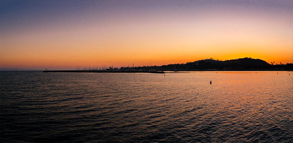 Santa Barbara Stearns Wharf Santa Barbara Shellfish Company California Sunset Photography Vacation 2016