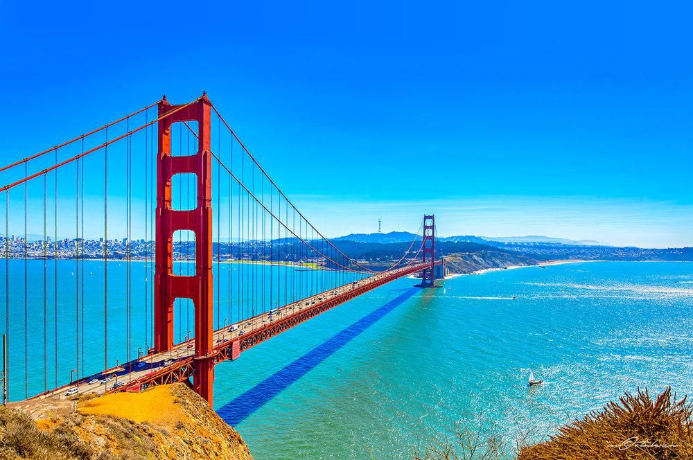 San Francisco California Golden Gate Bridge Photography Landscape Vacation 2016