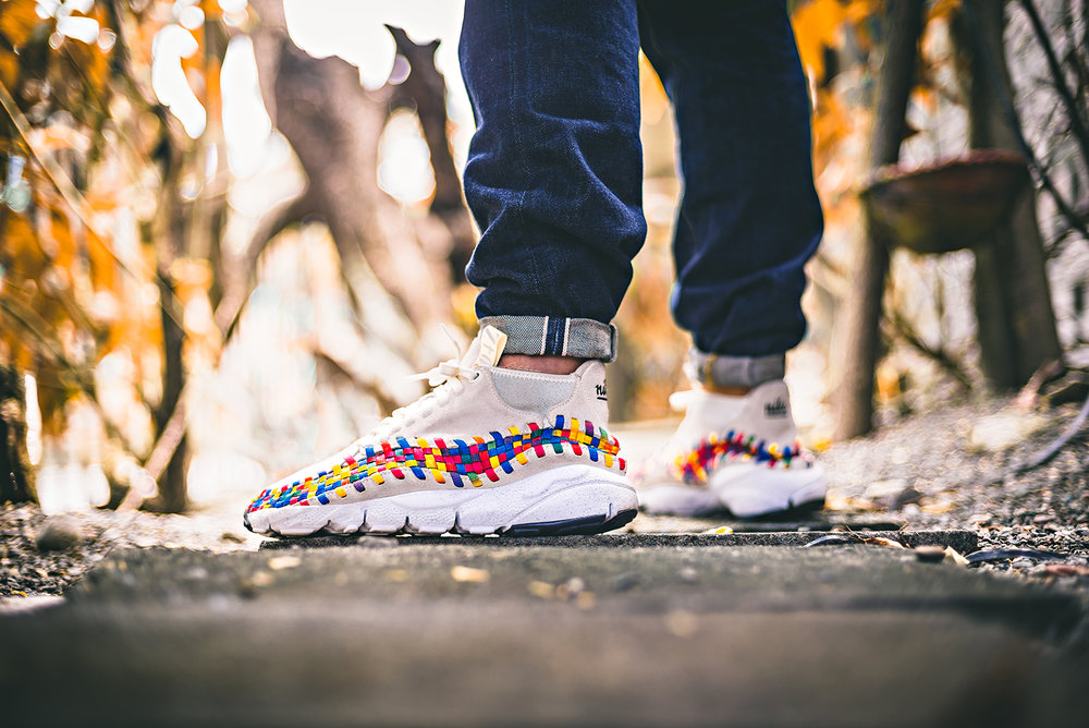 "Nike Footscape Woven Chukka Motion ""Rainbow"" Sail WDIWT Sneakers Photography"