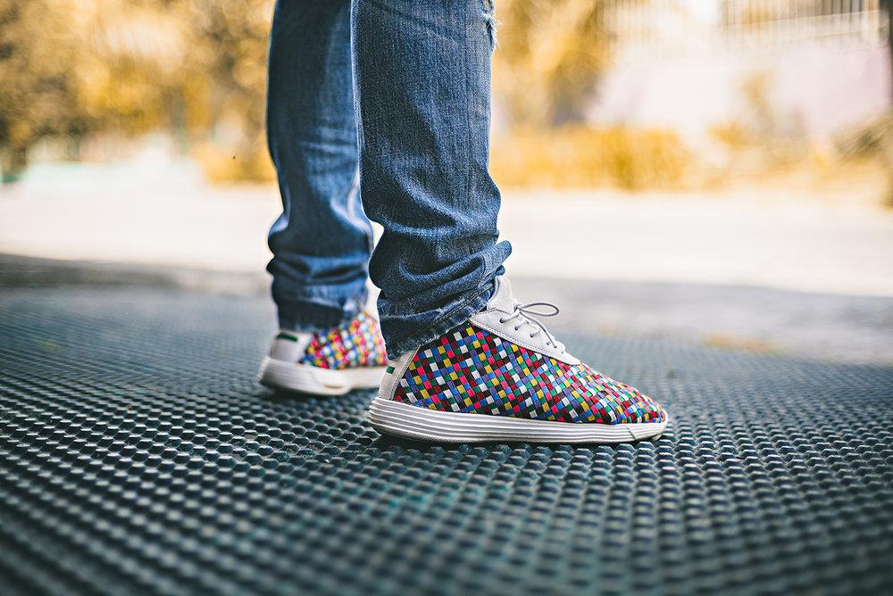 Nike Lunar Woven Chukka Rainbow Sneakers Sophnet Photography