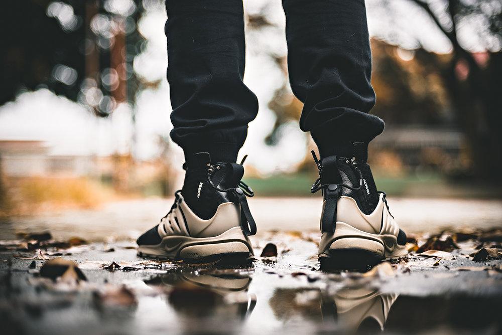 NikeLab ACRONYM ACRNM Presto Bamboo WDIWT Sneakers Photography
