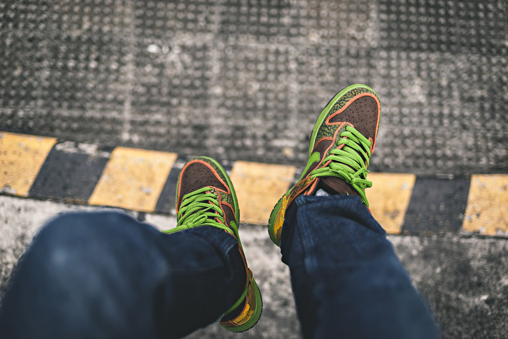 De La Soul Nike Dunk High SB Sneakers Photography WDIWT