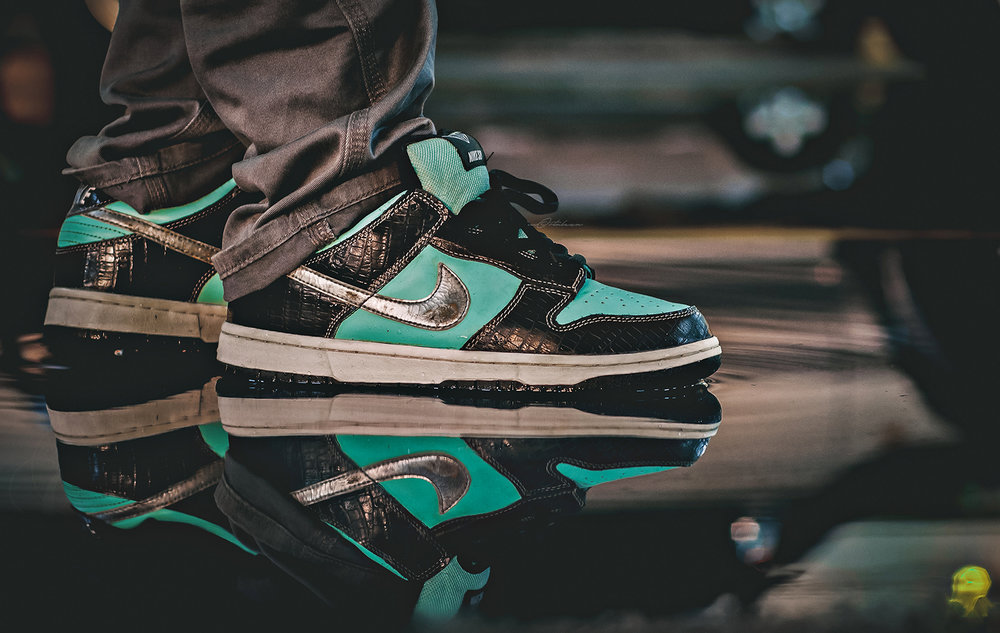 Tiffany Diamond Nike SB Dunk Low Sneakers Photography